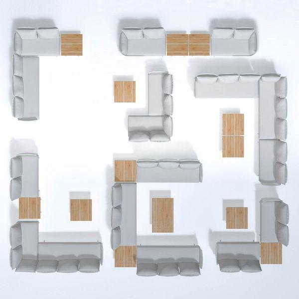 4 Seasons Play Paltform 3 seater w/Cushions - Frost / Grey