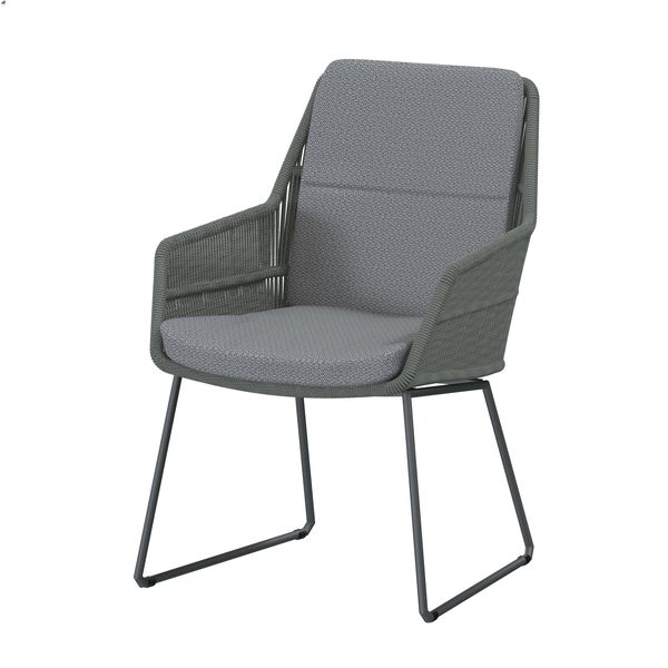 4 Seasons Valencia Chair w/ Cush.- Platinum