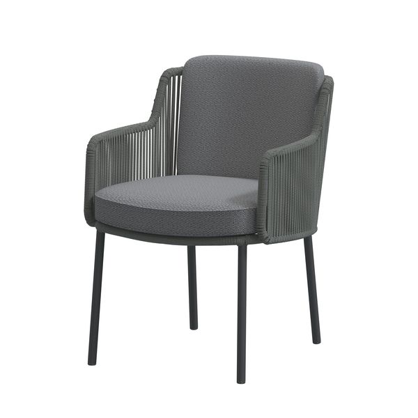 4 Seasons Bernini Chair w/ Cush.- Platinum