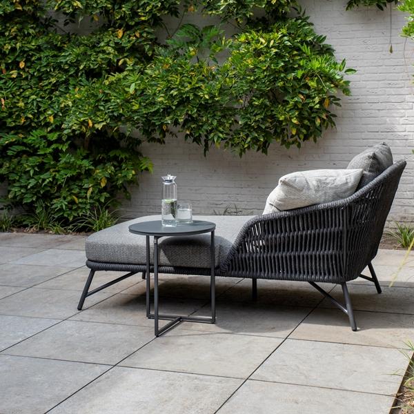4 Seasons Marbella Single Sunbed W/Cushions - Anthracite