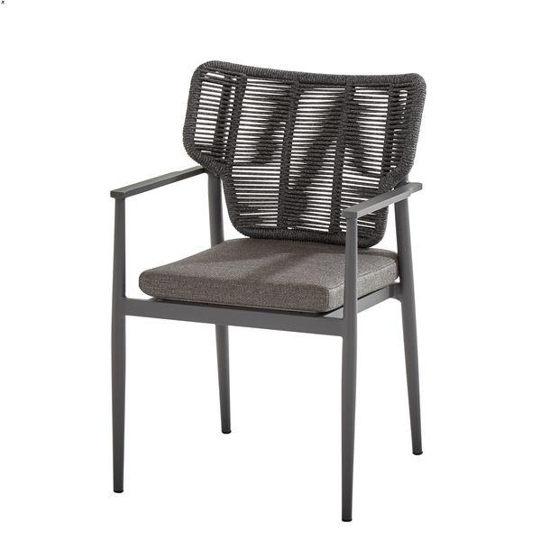 Taste Arturo Dining Chair W/Chshion Alum. Arm - M.Carbon