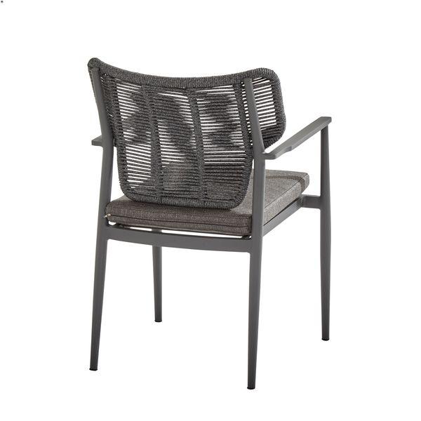 Taste Arturo Dining Chair W/Chushion Alum. Arm - M.Carbon