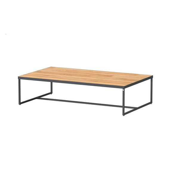 4 Seasons Strada Coffee Table ø73 - Aluminium / Teak