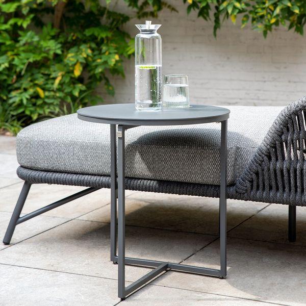 4 Seasons Valetta Side Table ø45 - Aluminium