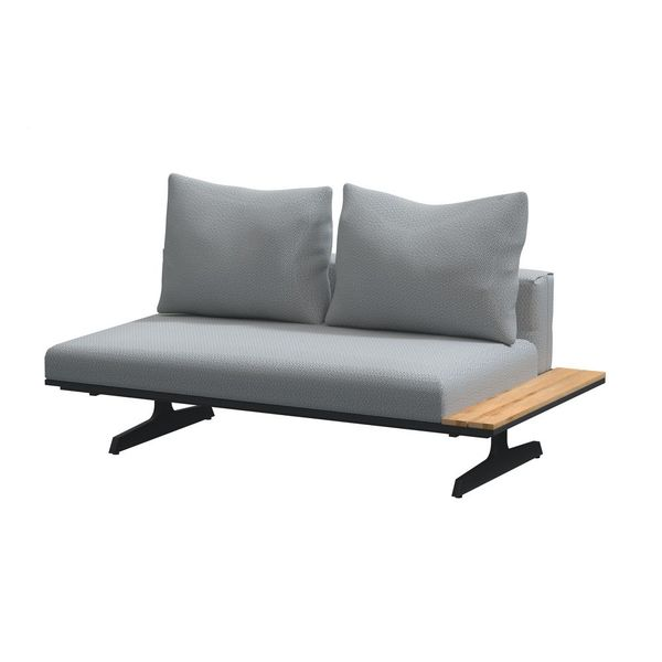 4 Seasons Endless Bench/Chaise Lounge - Anthracite/Teka