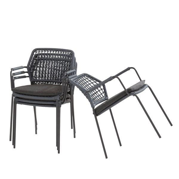 Taste Barista Cadeira Emp. Corda C/Alm. - Antracite