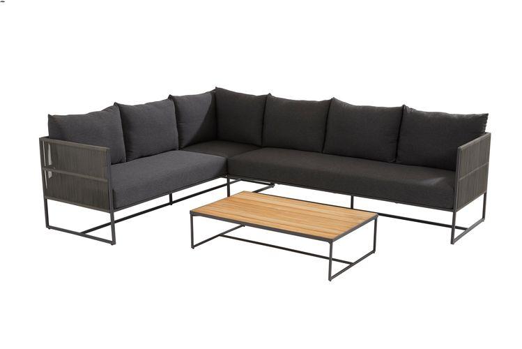 Taste Chill Sofa Mod. 3Lug. Br. Esq. C/Alm. - Antracite