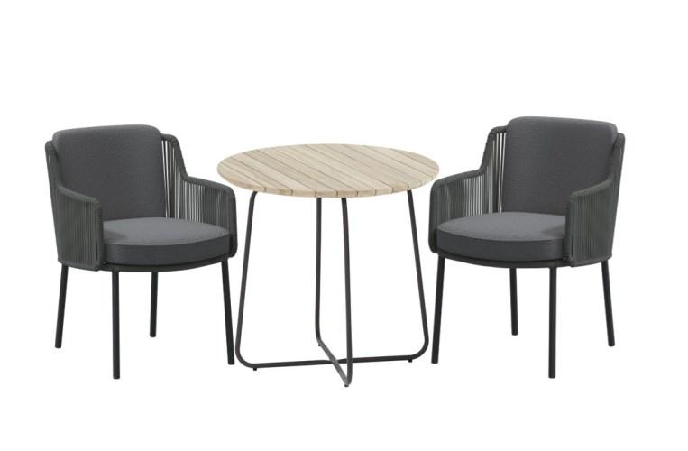 4 Seasons Axel Coffee Table ø73cm - Antracite/Teak