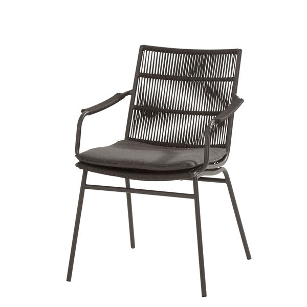 Taste Wave Chair With Cushion - Antracite Rope