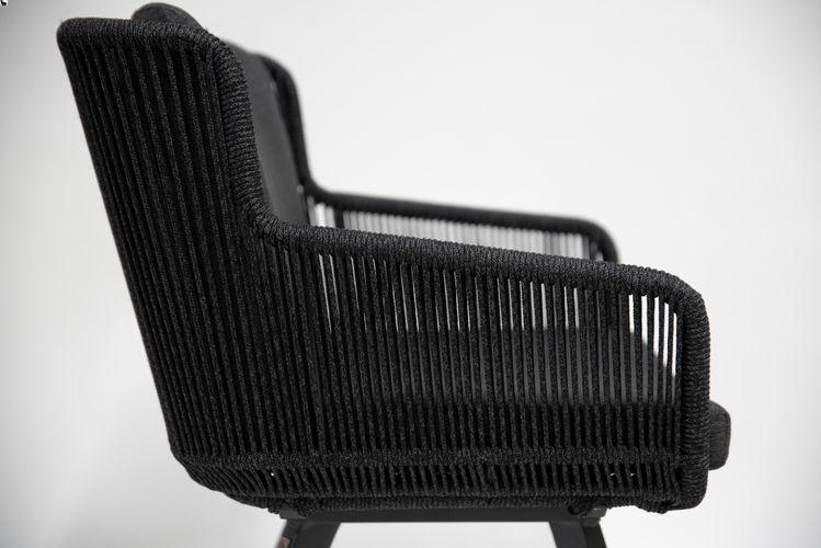4 Seasons Flores Chair Alum. Legs w/ Cush.- Antracite