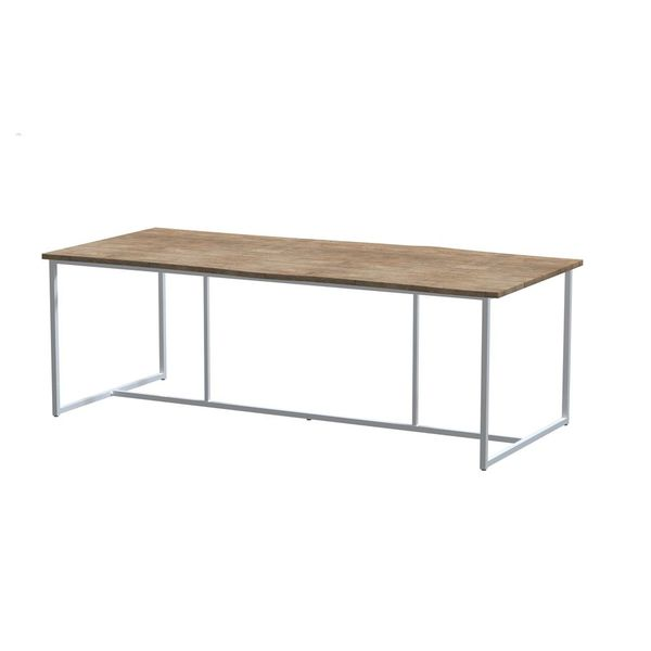 4 Seasons Goa Quatro Teak Table 220x95 - Lt. Grey/ Robusto