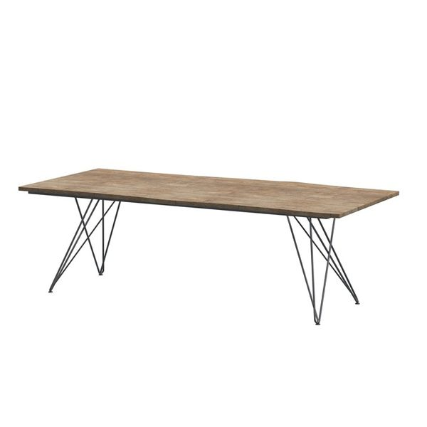 4 Seasons Goa Konos Table 220x95 Teak Top - Teak / Frost