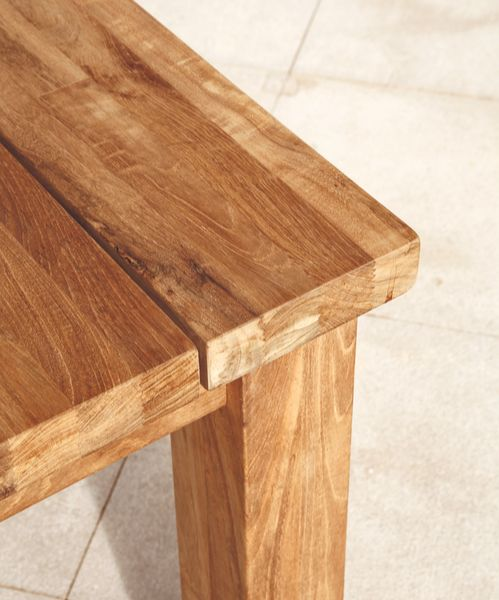 Barlow Titan Table 100x100cm - Teak