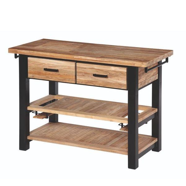 Barlow Titan Serving Table - Teak/Antracite