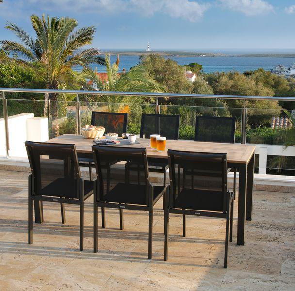 Barlow Aura Chair - Teak/Antracite