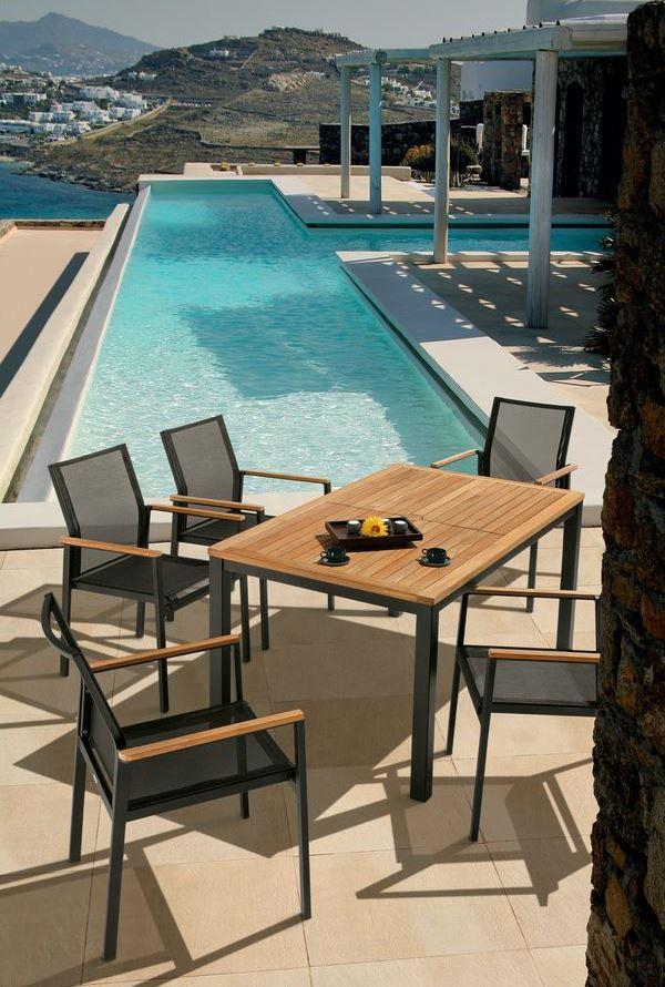 Barlow Aura Table 150x90 - Teak/Antracite