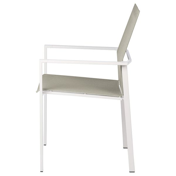 Barlow Mercury Armchair - White
