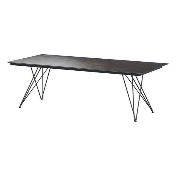 4 Seasons Tampa Table 220x95 HPL Top - DK.Grey / Antracite