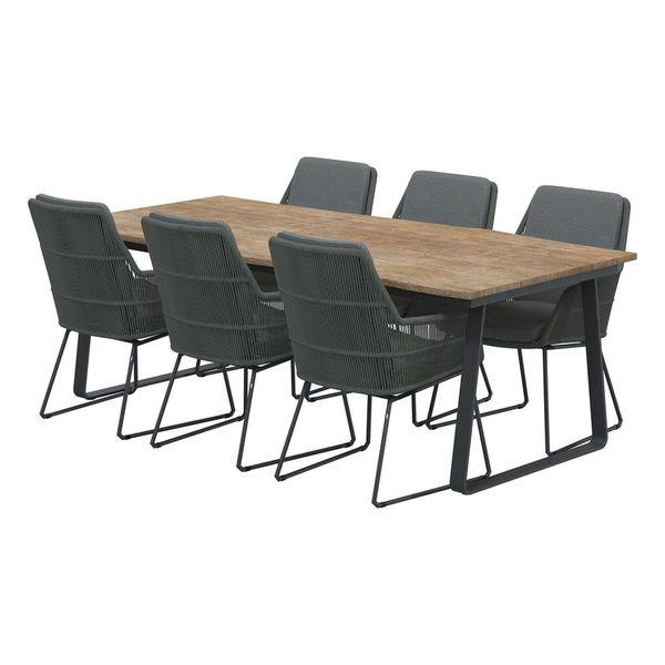 4 Seasons Konos Robusto Table 220x95 Teak Top - Teak / Antra