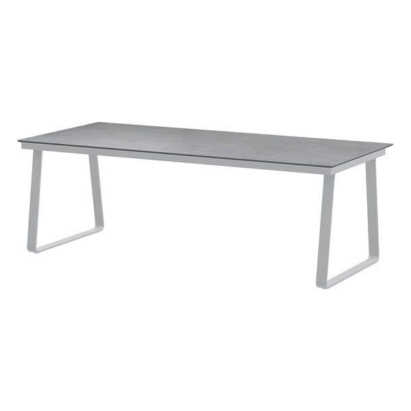 4 Seasons Konos Table 220x95 HPL Top - Lt. Grey / Frost