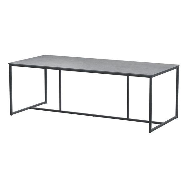 4 Seasons Quatro HPL Table 220x95 - Lt. Grey /Antracie