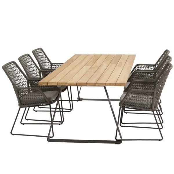 Taste Basso Table 240x100 - Teak / Antracite