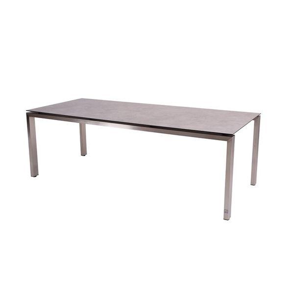 4 Seasons Goa Table HPL Top 220x95 - Light Grey / St.Steel