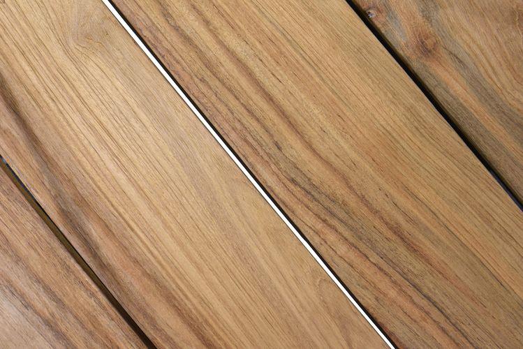 4 Seasons Goa Table Robusto Top 220x95 - Teka / St.Steel