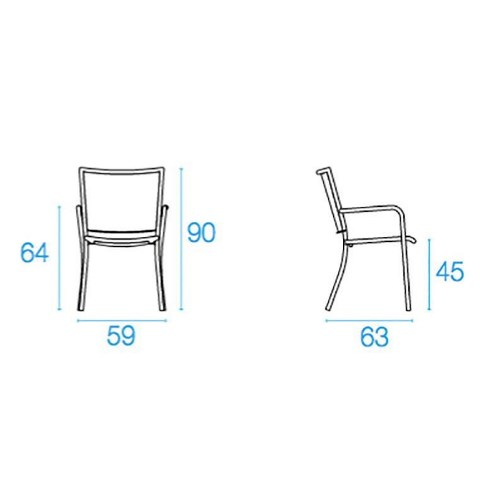 Emu ATHENA Cadeira  C/ Braços - Ferro Antigo