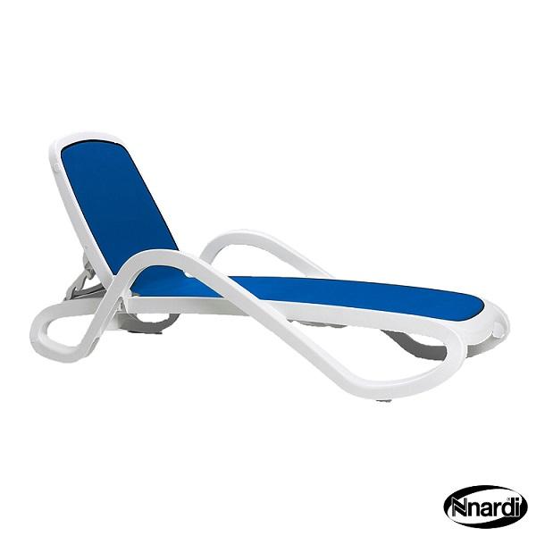 Jofix Alfa Espreguiçadeira Branca - Rede Azul