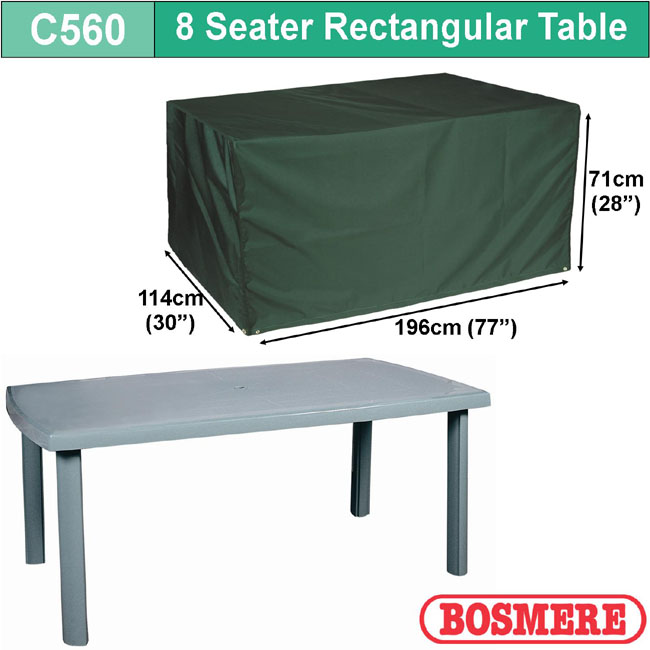 Bosmere Cover 8 seat Patio Set (196Wx71Hx140D)