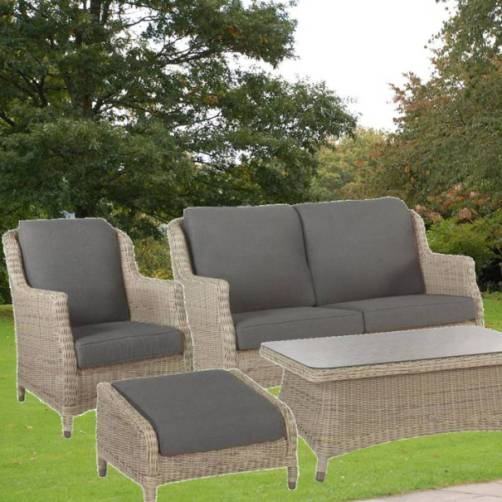 4 Seasons Brighton Living Chair W/ 2 Cushions - Pure