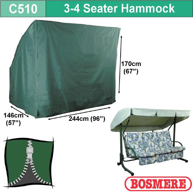 Bosmere Cover 3-4 seat Hammock (244wx170Hx146D)
