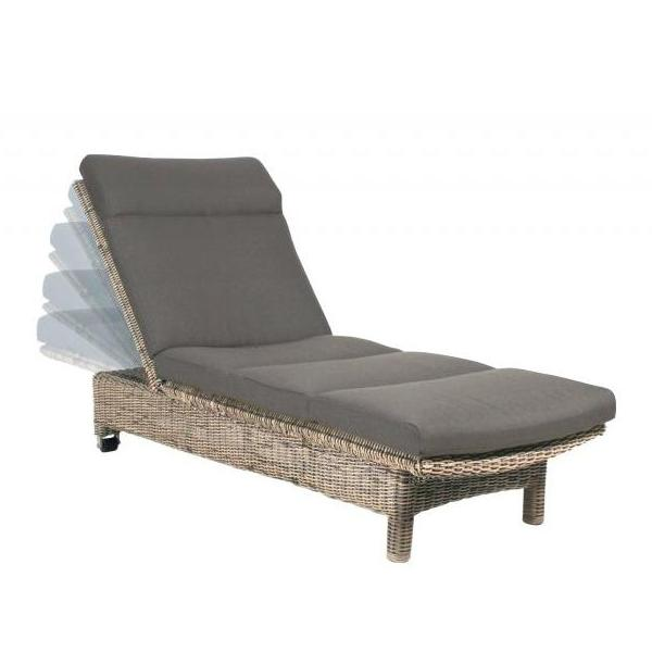 4 Seasons Wales Sunbed w/ cushion - Pure