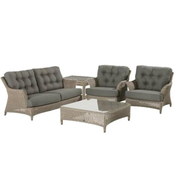 4 Seasons Valentine Living Chair w/ 2 Cushions - Pure