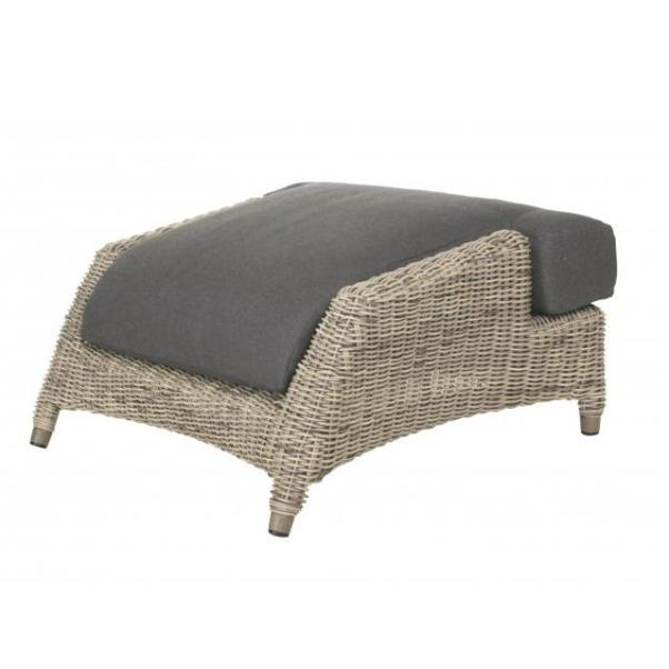 4 Seasons Valentine Footstool w/Cushion - Pure