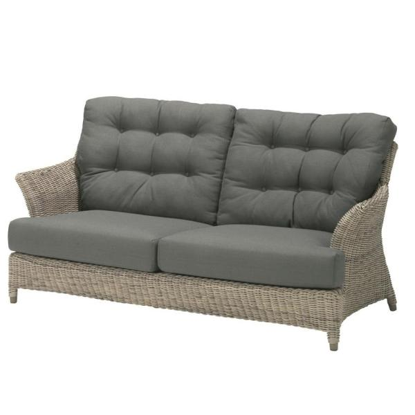 4 Seasons Valentine 2.5 Seater Sofa  w/ 4 Cushions - Pure