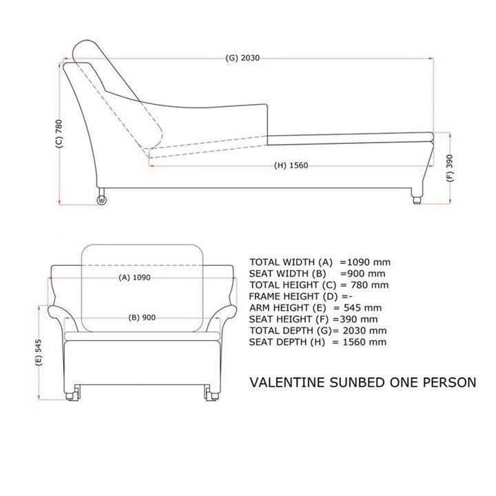 4 Seasons Valentine Individual Sunbed w/4 Cushions - Pure