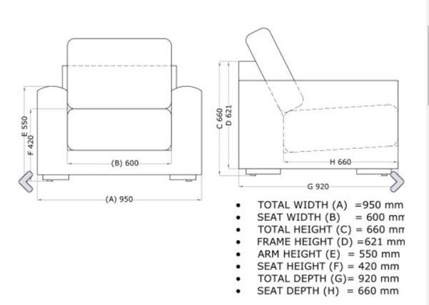 4 Seasons Kingston Individual Sofa w/ 2 Cushions - Pure