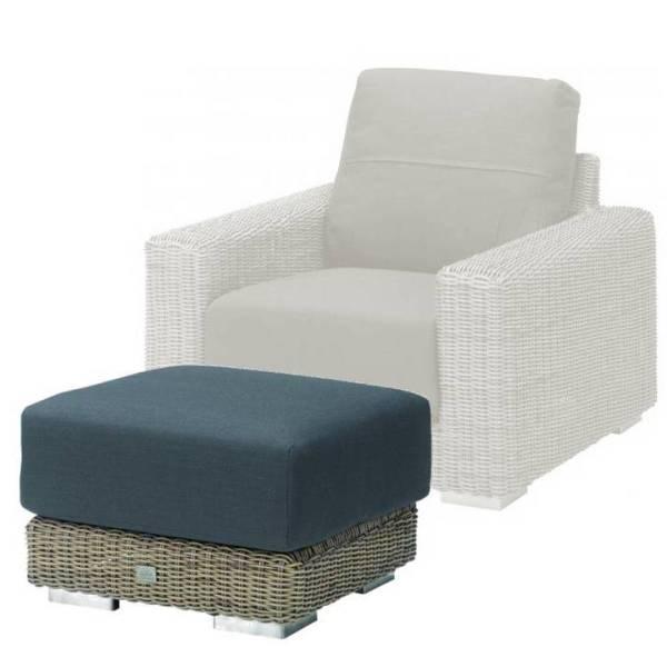4 Seasons Kingston Footstool w/Cushion. - Pure