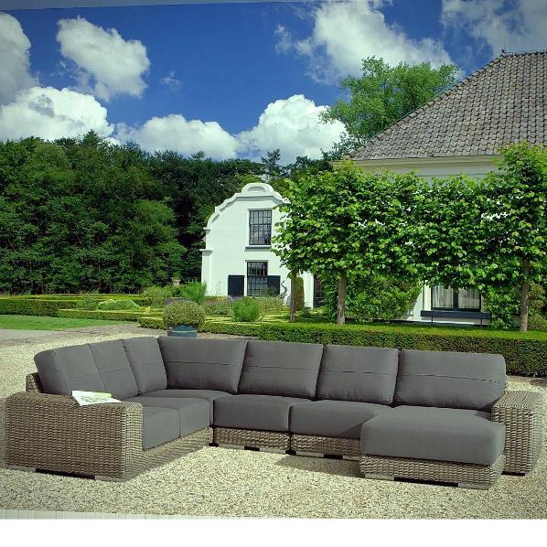4 Seasons Kingston Modular Corner w/ 3 Cushions - Pure