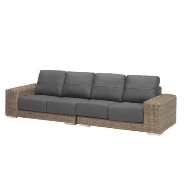 4 Seasons Kingston Modular 2 Seater Left w/4 Cushions - Pure