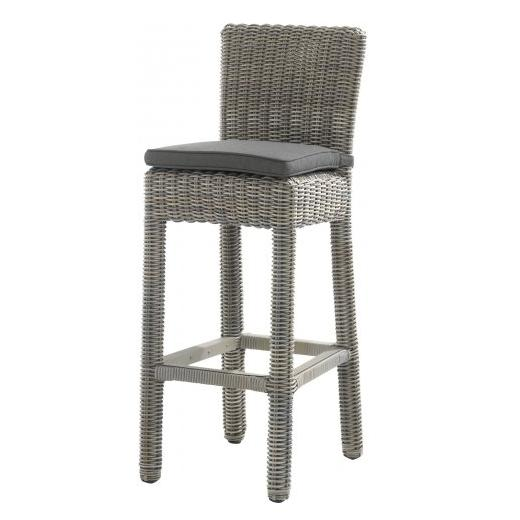 4 Seasons Wales Bar Chair w/ cushion - Pure