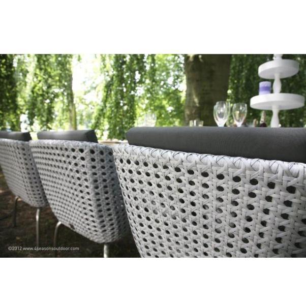 4 Seasons Luton Dining  Chair w/2 cushions - Pearl