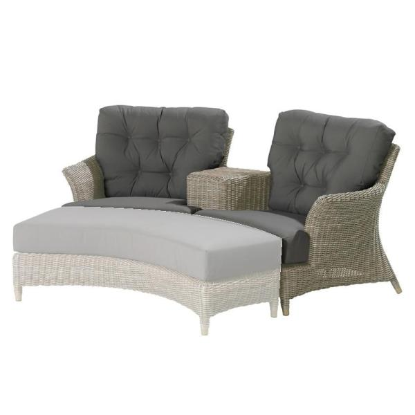 4 Seasons Valentine Loveseat w/4 Cushions - Pure