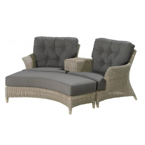 4 Seasons Valentine Loveseat w/4 Cushions - Pure