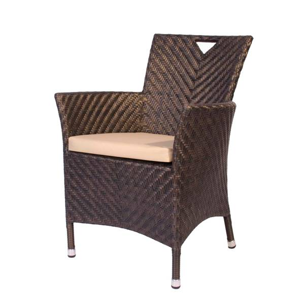 AL.Rose Ocean Wave Armchair w/cushion - Bronze