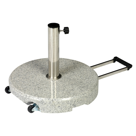 Jofix ø55Kg Base w/ handle & weels - Granite